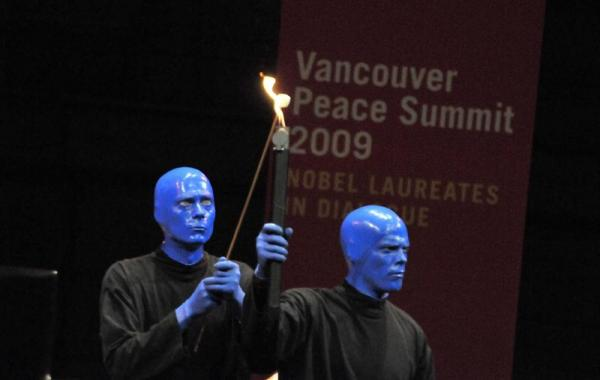 The Blue Man Group have started a Blue School in Manhattan which balances an academic focus with social and emotional learning. (photo by Sonam Zoksang 2009)