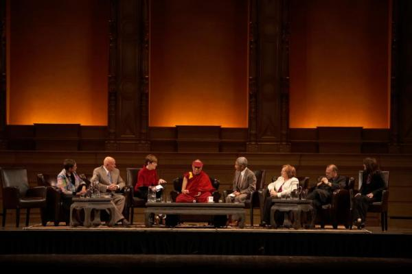 In 2006, the Dalai Lama sat on a similar panel. He asked to see an increased awareness of heart-mind education. (photo by Sarah Murray 2009)