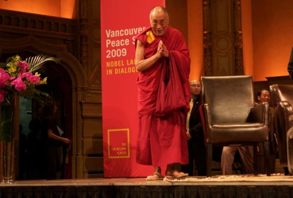 The Dalai Lama has always seeked a balance between educating the mind and educating the heart. (photo by Carey Linde 2009)
