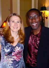 Dr Janice Levine and Dr Robert Kalyesubula met at Connecting for Change (photo courtesy of Janice Levine)