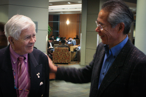 Irving K. Barber with DLC founding director Victor Chan