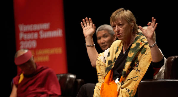 "Jody Williams offered an energized call to action. As she says: ""Compassion is Action"". (photo by Sarah Murray 2009)"