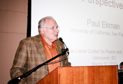 "Dr Paul Ekman at his March 11, 2010 talk on ""Darwin, the  Dalai Lama and the nature of compassion."