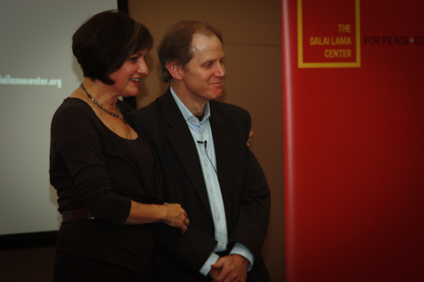 "Maria LeRose and Dr. Dan Siegel play Mother/Son during ""Parenting for the 21st Century"""