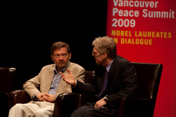 Eckhart Tolle and Sir Ken Robinson (photo by Samantha Walker 2009)