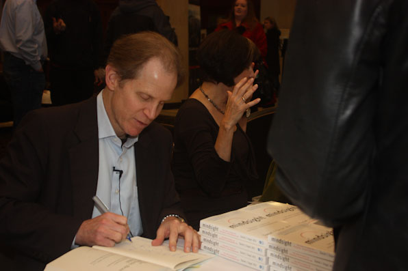 "Dr. Dan Siegel signs books ahead of ""Parenting for the 21st Century"""